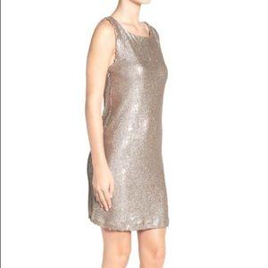 BB DAKOTA gold sequin shift dress